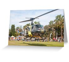 Huey Eagle One Helicopter Greeting Card