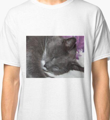 Smokey Cat Napping Classic T-Shirt