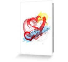 Painted hearts Greeting Card