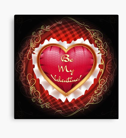 heart pillow Canvas Print
