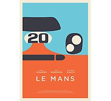 Le Mans movie Porsche 917 Gulf (Layout 3 border) Photographic Print