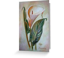 Happy Anniversary Calla Lily Greeting Card