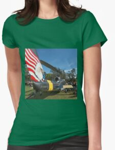 Huey Eagle One Helicopter  Womens Fitted T-Shirt