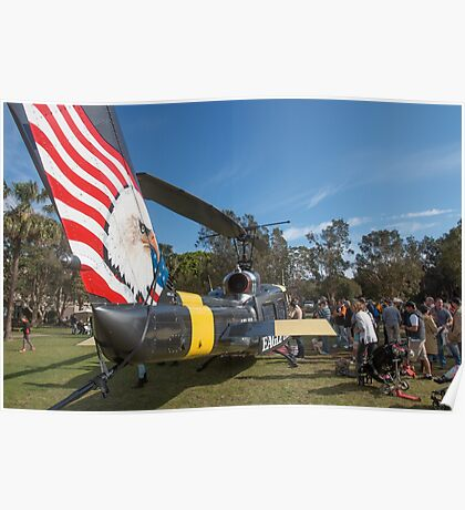 Huey Eagle One Helicopter  Poster