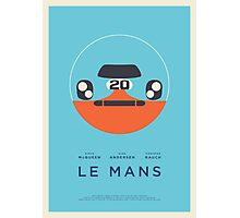 Le Mans movie Porsche 917 Gulf (Layout 4 Cyan border) Photographic Print