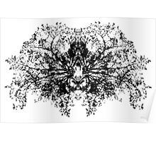 Abstract symetry pattern B&W Poster