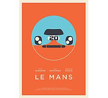 Le Mans movie Porsche 917 Gulf (Layout 4 Orange border) Photographic Print