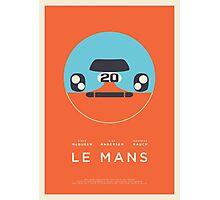 Le Mans movie Porsche 917 Gulf (Layout 4 Orange border) Photographic Print