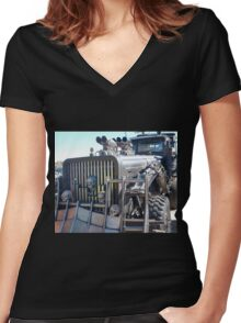 Mad Max Fury Road Vehicle Women's Fitted V-Neck T-Shirt