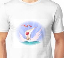 Greeting card with a toy boat Unisex T-Shirt