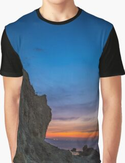 A rock looks like human face Graphic T-Shirt