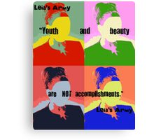 """Leia's Army """"Youth and Beauty"""" (large) Canvas Print"""