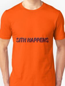 Star Wars Episode 7 Inspired ' Sith Happens ' Sh*t Happens Parody T-Shirt