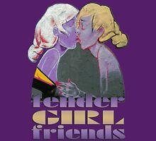 tender girlfriends - love, kiss, kisses, kissing, graffiti, curiosity Women's Fitted Scoop T-Shirt