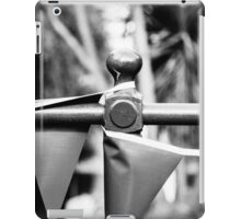 Black and white flags strung up iPad Case/Skin
