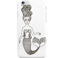 fairy Mermaid with long curly hair.  iPhone Case/Skin