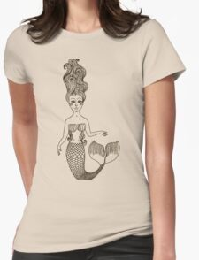 fairy Mermaid with long curly hair.  Womens Fitted T-Shirt