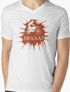 Braaap Mens V-Neck T-Shirt