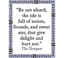 Be Not Afeard - Shakespeare Photographic Print