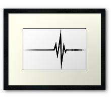 Pulse / beat / EKG Framed Print
