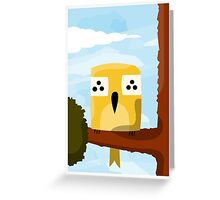 A bird on a branch Greeting Card