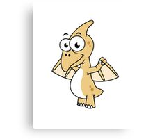 Cute illustration of a pterodactyl. Canvas Print
