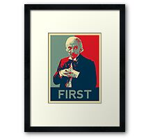 First doctor - Fairey's style Framed Print