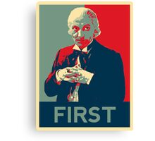 First doctor - Fairey's style Canvas Print