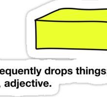 Butterfingers Definition Sticker