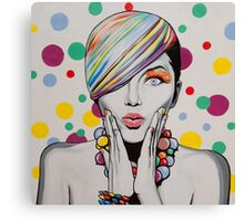 Polka Party Canvas Print