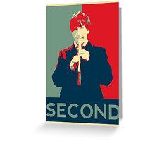 Second doctor - Fairey's style Greeting Card