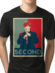 Second doctor - Fairey's style Tri-blend T-Shirt