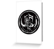 Evil & Evil Greeting Card