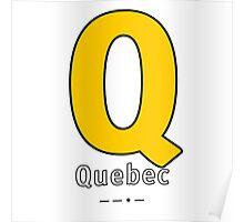 Q = Quebec Poster
