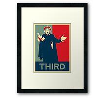 Third doctor - Fairey's style Framed Print