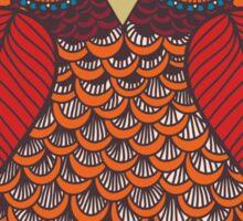 Pattern Owl Sticker