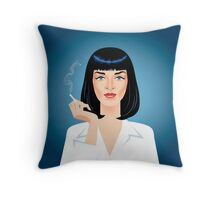 Mia Wallace Throw Pillow