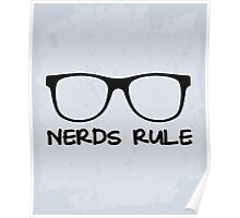 Nerds Rule Funny Quote Poster