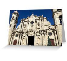 Cuba - Old Havana - Cathedral of Havana San Cristobal Greeting Card