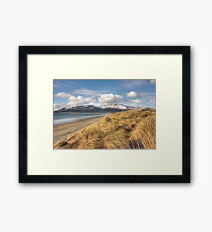 Dundrum bay and the mourne mountains Framed Print