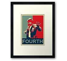 Fourth doctor - Fairey's style Framed Print