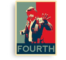Fourth doctor - Fairey's style Canvas Print