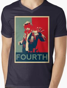 Fourth doctor - Fairey's style Mens V-Neck T-Shirt