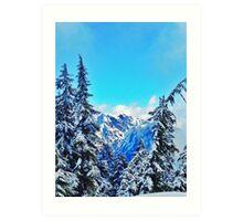 Blue Mountain Scene Art Print
