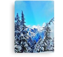 Blue Mountain Scene Metal Print