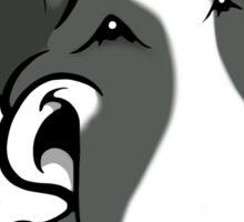 Fun Bull Terrier Cartoon Grey & White Sticker