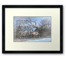 My Vow To You Framed Print