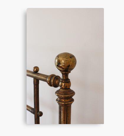 Brass bed knob Canvas Print