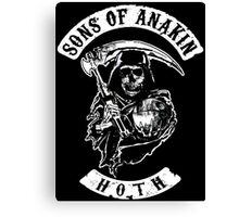 Sons of Anakin - starwars inspired biker patch Canvas Print