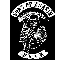Sons of Anakin - starwars inspired biker patch Photographic Print